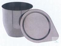 Tiegel 270ml Ø-80mm Tiegel 270 ml,  Ø: 80 mm, Höhe 80 mm,   Wandstärke 1,0 mm, aus Nickel 99,5%