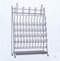 Draining rack for 60 test tubes and 5 flasks or ballons,  wi Draining rack for 60 test tubes and...