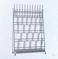 Draining rack for 24 test tubes and 20 flasks or ballons,  w Draining rack for 24 test tubes and...