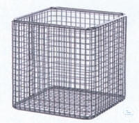 Basket, 300 x 200 x 150 mm, wire mesh 8 x 8 mm, stainless steel