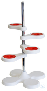 Filtering stand for 4 funnels, made of PP, white,  550 x 150 Filtering stand for 4 funnels, made...