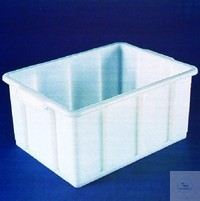 TRANSPORT- AND STORAGE CONTAINER, HD-PE, 20 L, 415 X 315 X 200 MM, CAN BE EASILY PILED-UP,...