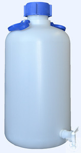 CARBOYS, 5000 ML, PE, WITH TAP, ROUND, WITH SCREW-CAP