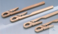 TEST TUBE HOLDER, MADE OF HARDWOOD,   WITH STEEL SPRING, LEN TEST TUBE HOLDER, MADE OF HARDWOOD,...
