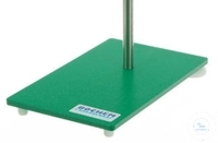 SUPPORT WITH LACQUERED IRON BASE, 180 X 100 MM, WITH POLISHED STEEL ROD, 450...