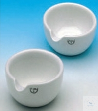 MORTARS, PORCELAIN, DIA. 330 MM, HEIGHT 140 MM, CAPACITY 6000 ML, WITH SPOUT, UNGLAZED
