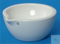 MORTARS, PORCELAIN, DIA. 60 MM, HEIGHT 32 MM, CAPACITY 25 ML, WITH SPOUT, GLAZED,