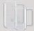 Becher 1000ml, Ø 95mm, Höhe 180mm hohe Form, mit Handgriff, Teilung und Ausguss, Borosilikatglas