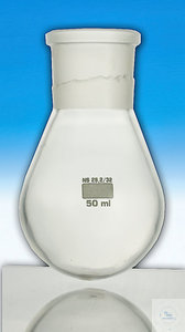 Flask pear shaped 1000ml ST 29/32 plastic-coated Flask pear shaped with plastic coating Capacity:...