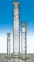 Messzylinder 500ml Kl. B Schliff NS34/35 blau graduiert mit PE-Stopfen Messzylinder mit Schliff...