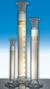 Messzylinder 100ml Kl. B Schliff NS24/29 braun graduiert mit PE-Stopfen Messzylinder mit Schliff...