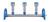 Vakuum-Verteiler 3 Stellen mit Stopfenanschluss MultiVac 300-MS...