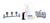 Set: Pumpe 120V, Verteiler (3 Abzw.), Edelstahl-Filterhalter, Abfallflasche...