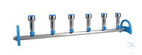 MultiVac 600-MS manifold, 6 branches, stopper, stainless steel, port thread...