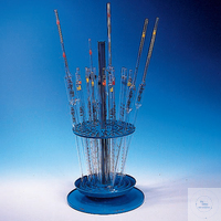 Pipette stand, PP, hold max. 94 pipettes or thermometer