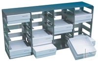 Rack for cryo boxes, for SWUF-(D) 300/400, 15 places, 140 x 430 x 290 mm,...