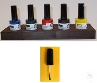 Tissue marking dyes (set of 5) normal brush brush width 3 mm approx. Content...