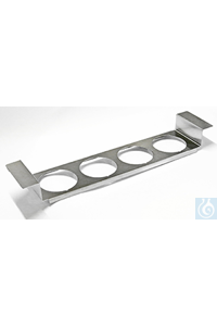 ES 4, beaker holder ES 4, beaker holder, for 4 vessels, s/s, for RK...