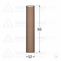 Flachbodenglas 50 x Ø12mm; Probenröhrchen; Vail; Braunglas; glatter Rand