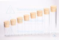 Flachbodenglas 80 x Ø30mm; Probenröhrchen; Vail; Klarglas; glatter Rand