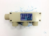 Reinwasser-Verteilerblock 3-fach R 3/4, aus PP Reinwasser-Verteilerblock...