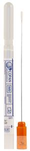 Mini tip swab with Amies medium clear, regular aluminium shaft, orange cap...