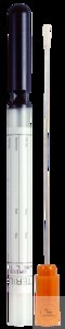 Mini tip swab with Amies charcoal, regular aluminium shaft; cap orange Mini...