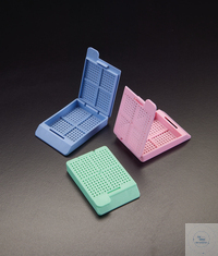 Embedding Cassettes with integral lid, colour white Embedding Cassettes with...