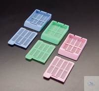 Embedding Cassettes with seperate lid, colour white Embedding Cassettes with...