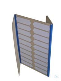 Präparatemappe mit Deckel, aus Karton für 20 Objektträger; Quersteige  Präparatemappe Modell Long...
