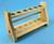 Reagenzglasgestell Holz D=18, 12er mit Stäbe Reagenzglasgestell Holz D=18, 12er mit Stäbe