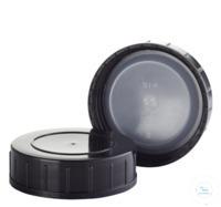 Schraubkappe schwarz mit EPE-Einlage; DIN45 Schraubkappe schwarz mit...