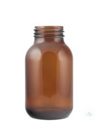Weithalsglas; Klarglas; Gewinde GL45; Inhalt 100ml