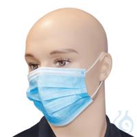 OP-Maske, 3-lagig, blau, mit elastischen Ohrschlaufen (50Stk.)