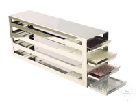 Comfort Rack (drawers) MTP for upright freezers for (HxD) 9x4=36 MTP`s; stainles