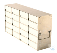 Eco-AluRack for upright freezers for 2X4=8 boxes for 130mm H; Alumium,delivered