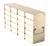 209 Artikel ähnlich wie: Eco Alu-Gestell für Kühlschränke (HxB) 4x3=12 Boxen 40mmH; Aluminium,...