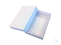 Cryobox for 25 slides ; carton, white,(WxDxH) 87x128x32mm Cryobox for 25...