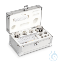 E1 1 mg - 1 kg Set of weights, in aluminium case, Stainless steel Weight set, cylindrical,...