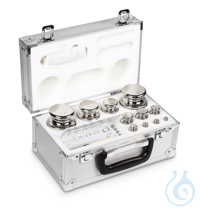 E1 1 mg - 2 kg Set of weights, in aluminium case, Stainless steel Weight set, cylindrical,...