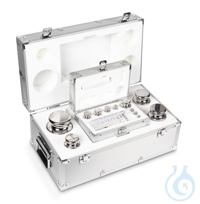 E1 1 mg - 5 kg Set of weights, in aluminium case, Stainless steel Weight set, cylindrical,...