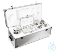 E1 1 mg - 10 kg Set of weights, in aluminium case, Stainless steel Weight set, cylindrical,...