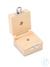 Holzetui 1 x 5 g, E1 + E2 + F1, gepolstert Einzelgewicht, Knopfform,...