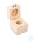 Holzetui 1 x 200 g, E1 + E2 + F1, gepolstert Einzelgewicht, Knopfform,...