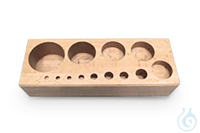 Block 1 g - 5 kg, M3, Buche KERN 362-980-300, for nominal values 1 g - 5 kg,...