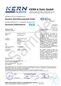 E2 20 g, DAkkS Certificate E2 20 g DAkkS Certificate