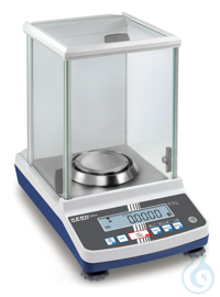 Analytical balance with type approval, class I, 0,0001 g ; 120 g ABJ-NM:...