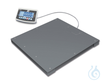 Floor scale, Max 600 kg; e=0,2 kg; d=0,2 kg Weighing plate [[A]], [[B]] screwed on from the top ,...