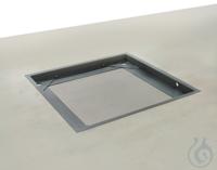 Grubenrahmen 1085x1085x80 mm, Stahl, lackiert Stabiler Grubenrahmen zum...