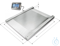 Floor scale with type approval, 0,5 kg ; 1500 kg Robust stainless steel...